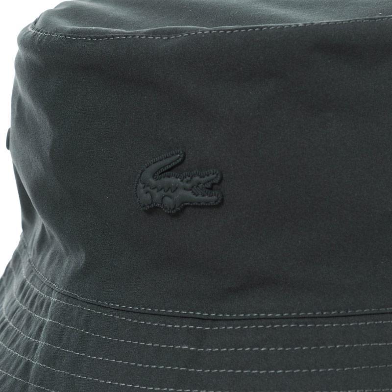 Lacoste Mens Reversible Bucket Hat Charcoal