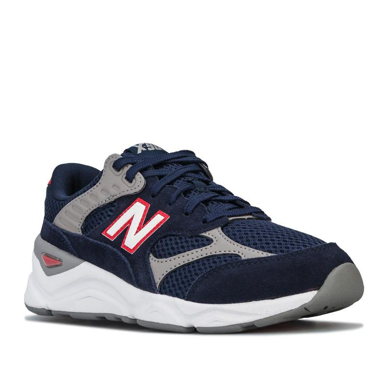 New Balance Mens X-90 Reconstructed Trainers Navy