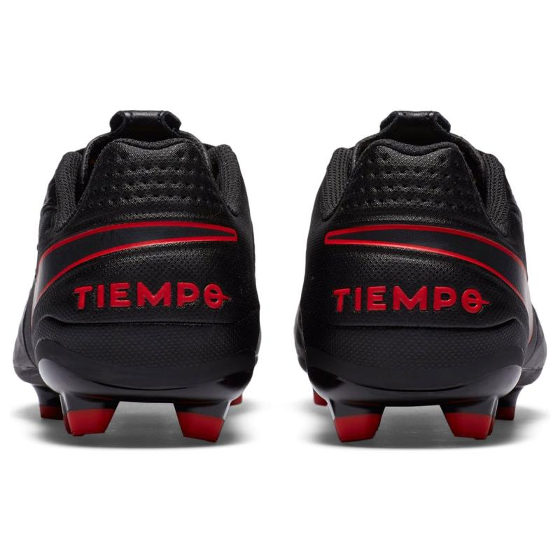 Nike Tiempo Legend Academy Junior FG Football Boots BLACK/DK SMOKE GREY-CHILE RED