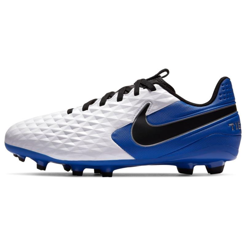 Nike Tiempo Legend Academy Junior FG Football Boots White/Blk/Royal