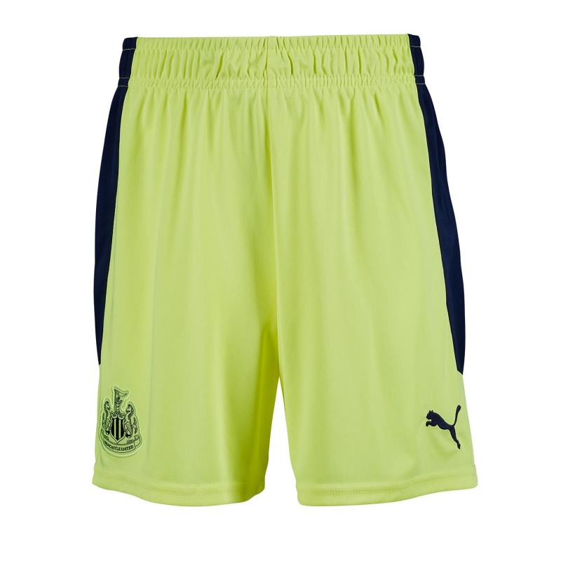 Puma Newcastle United Away Shorts 2020 2021 Junior Fizzy Yellow