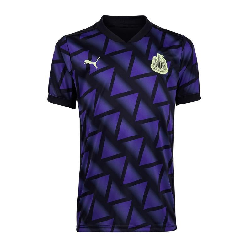 Puma Newcastle United Third Shirt 2020 2021 Junior Purple/Black
