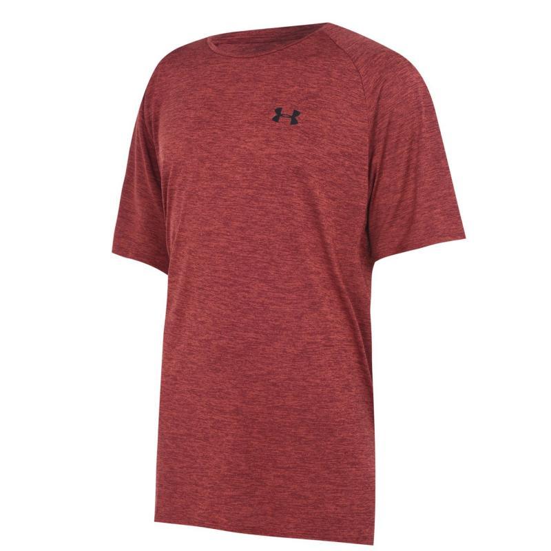 Tričko Under Armour Technical Training T Shirt Mens Cinna Red