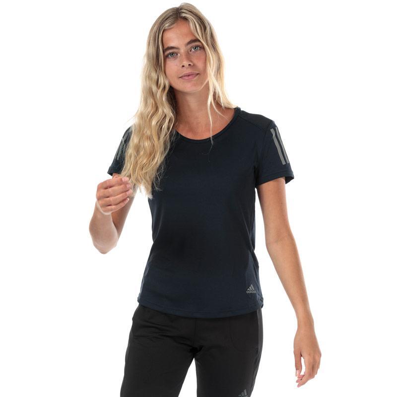 Adidas Womens Own The Run T-Shirt Navy