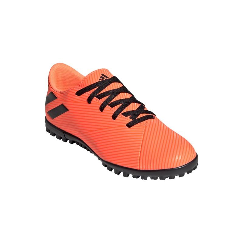 Adidas Nemeziz 19.4 Childrens Astro Turf Trainers SignCoral/Black