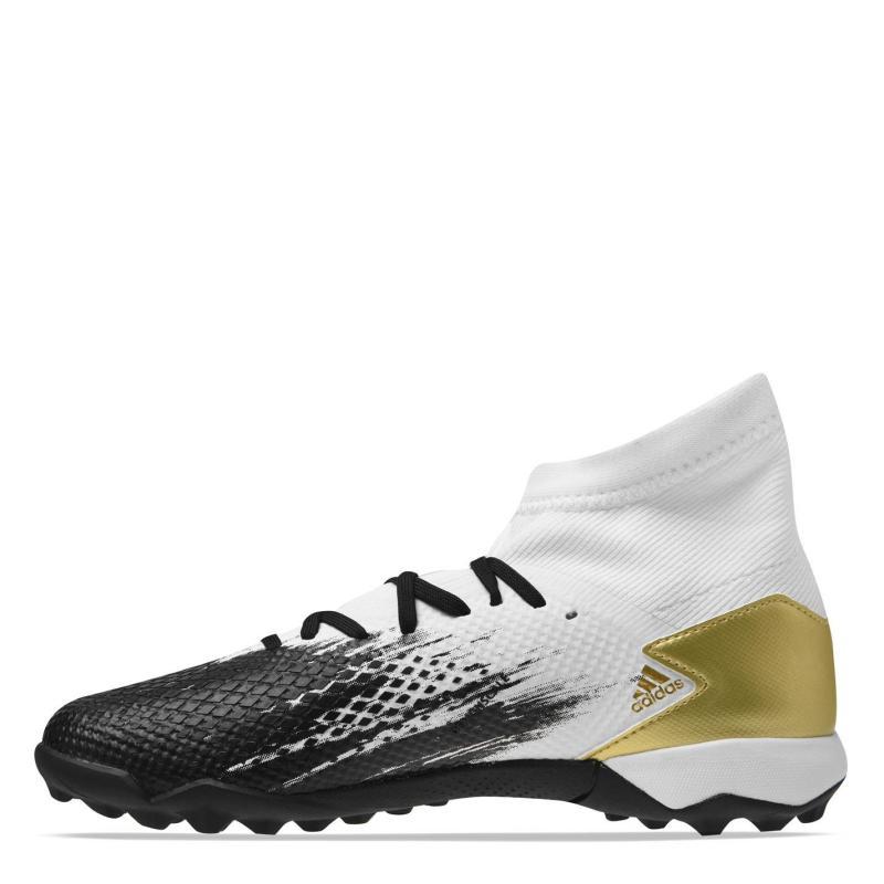 Adidas Predator 20.3 Junior Astro Turf Trainers White/MetGold
