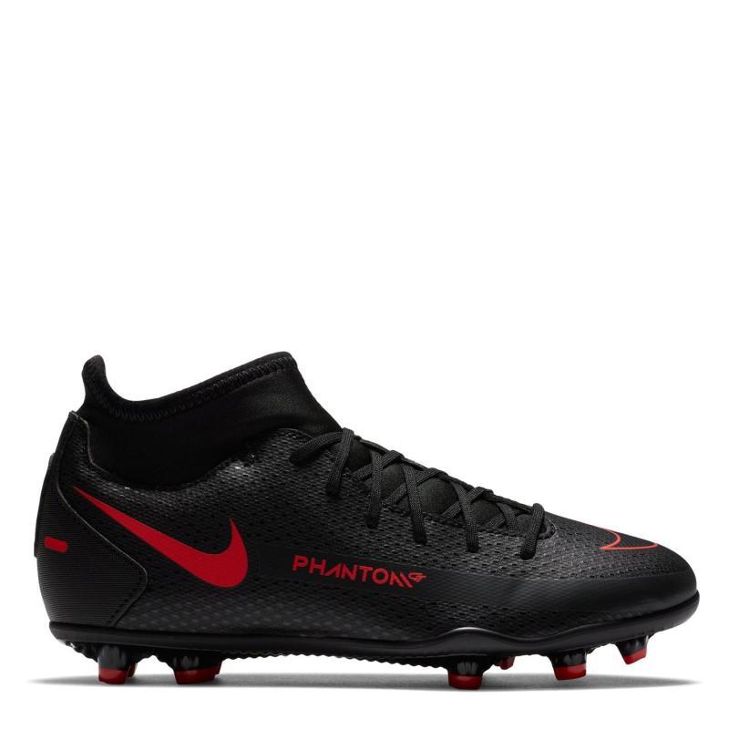 Nike Phantom GT Club DF Junior FG Football Boots Black/ChileRed
