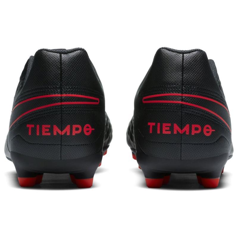 Nike Tiempo Legend Club Mens FG Football Boots BLACK/DK SMOKE GREY-CHILE RED
