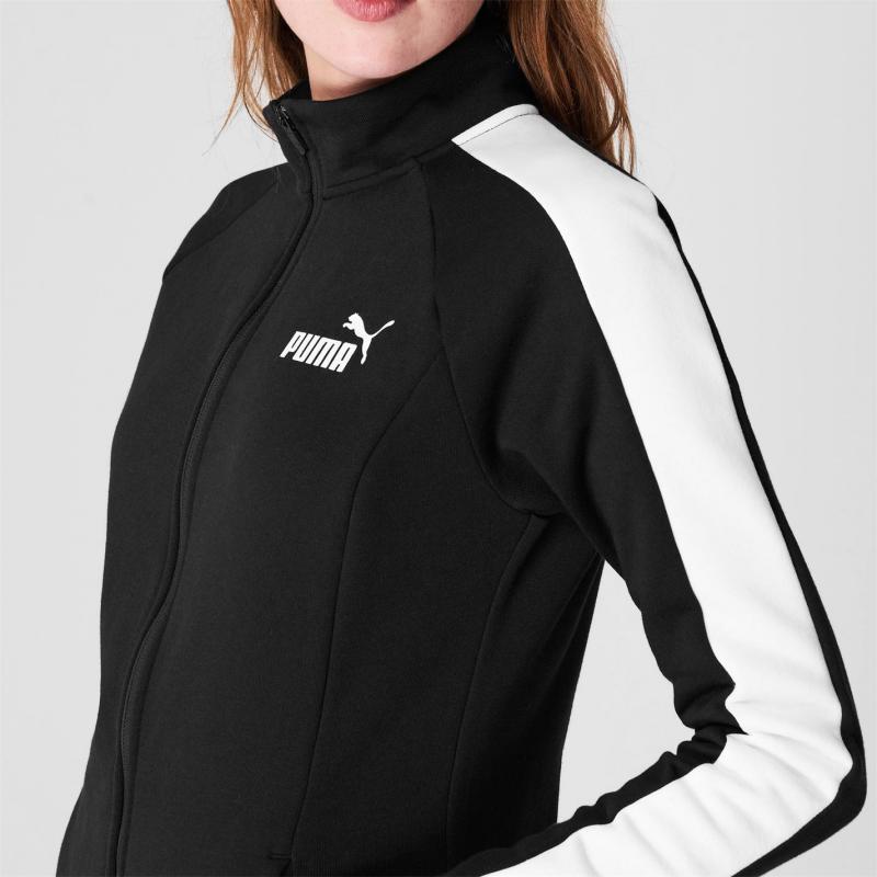 Puma Fleece Sweat Suit Womens PUMA BLACK