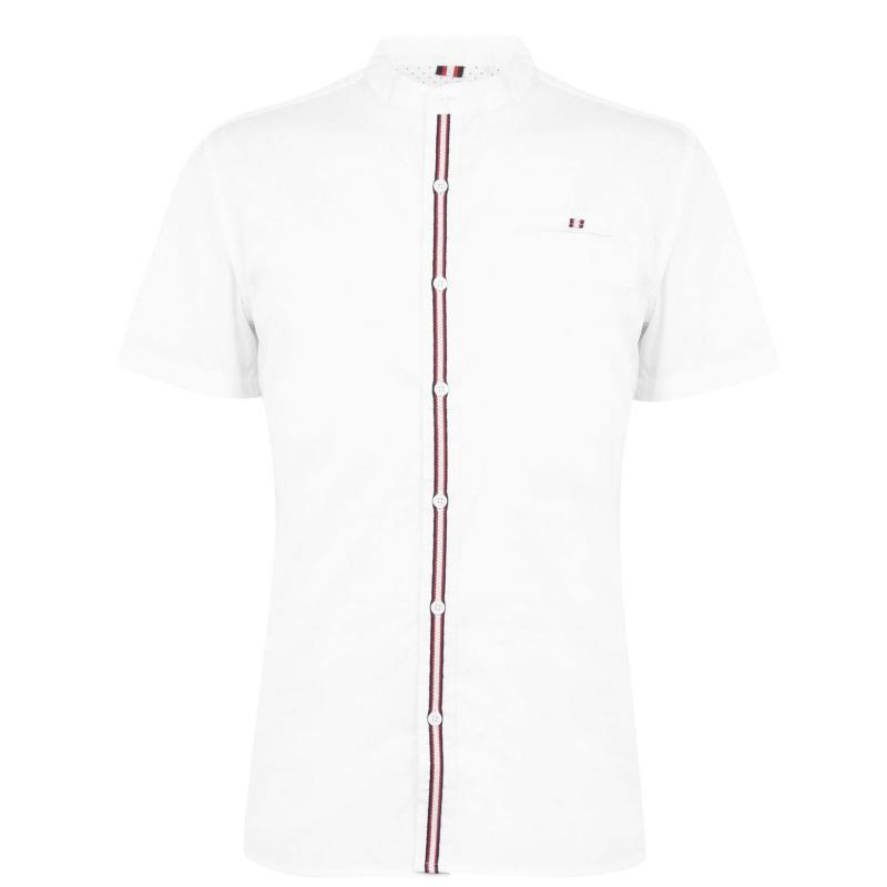 Soviet Tape Short Sleeve Shirt Mens White
