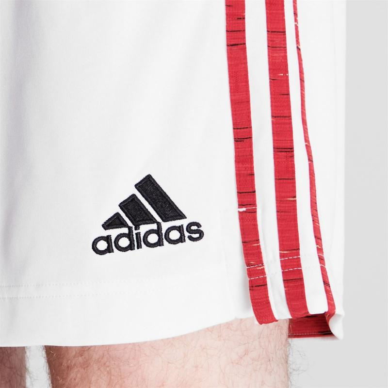 Adidas Manchester United Home Shorts 2020 2021 White
