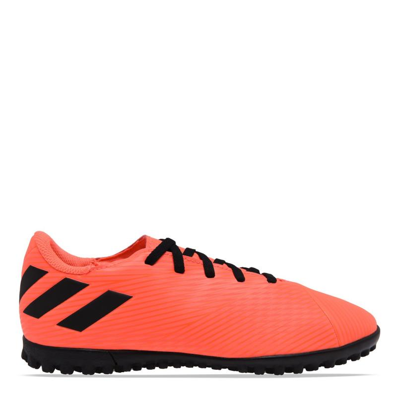Adidas Nemeziz 19.4 Junior Astro Turf Trainers SignCoral/Black