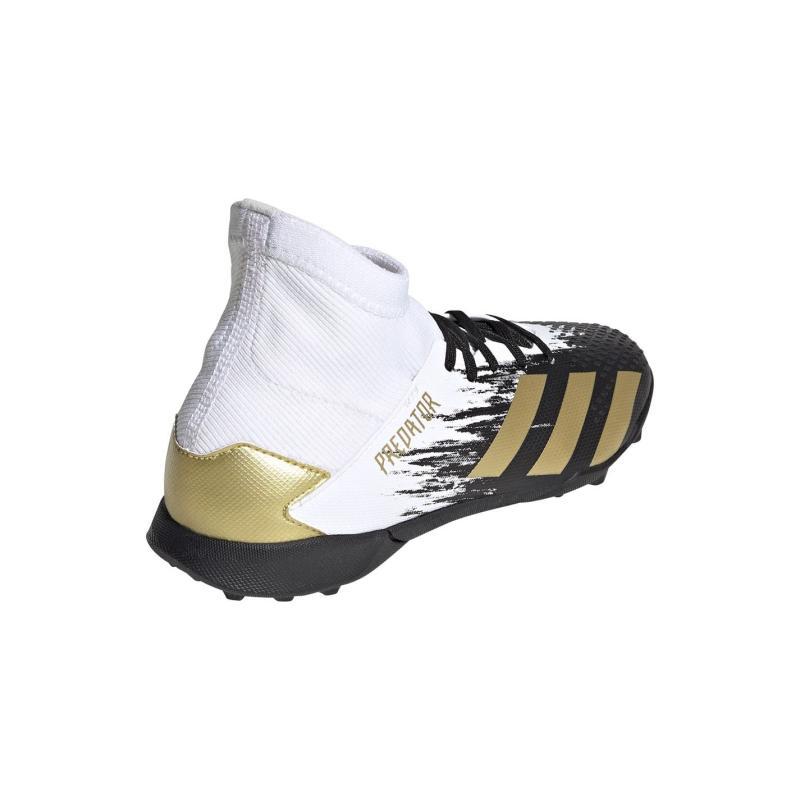 Adidas Predator 20.3 Childrens Astro Turf Trainers White/MetGold