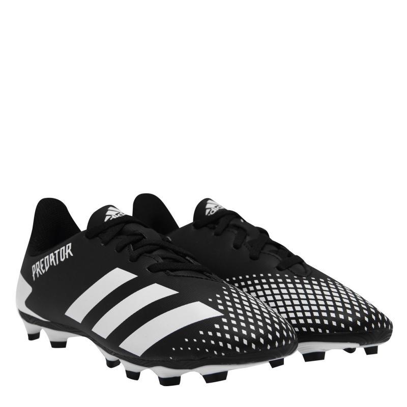 Adidas Predator 20.4 Junior FG Football Boots Black/White/Blk