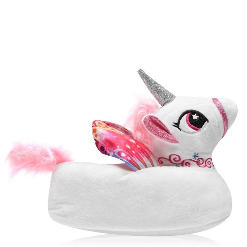Dunlop Novelty Slippers Pink Unicorn