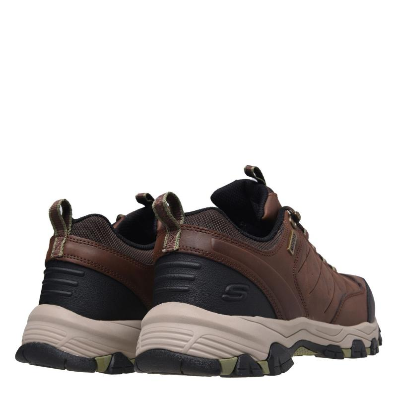 Boty Skechers Helson Waterproof Walking Shoes Mens Light Brown