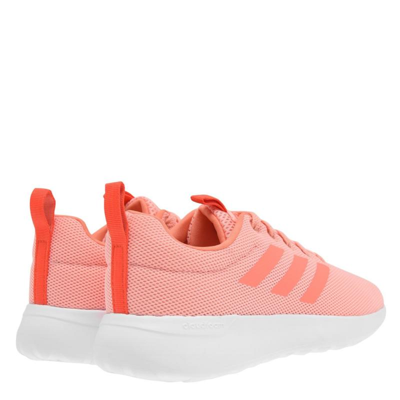 Adidas Lite Racer Girls Trainers Coral/White
