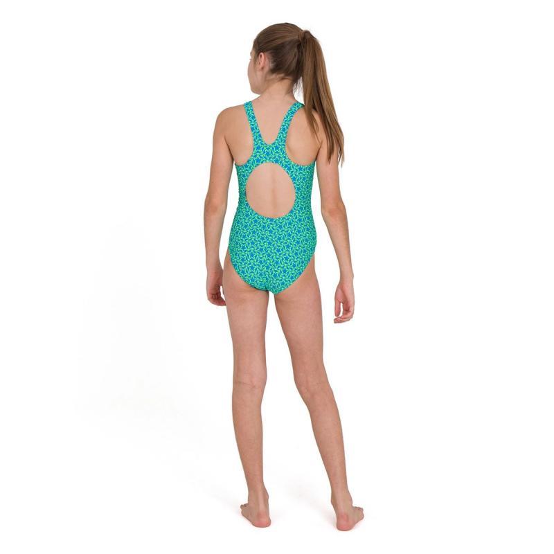 Speedo Star Swimsuit Junior Girls Pool/Yellow