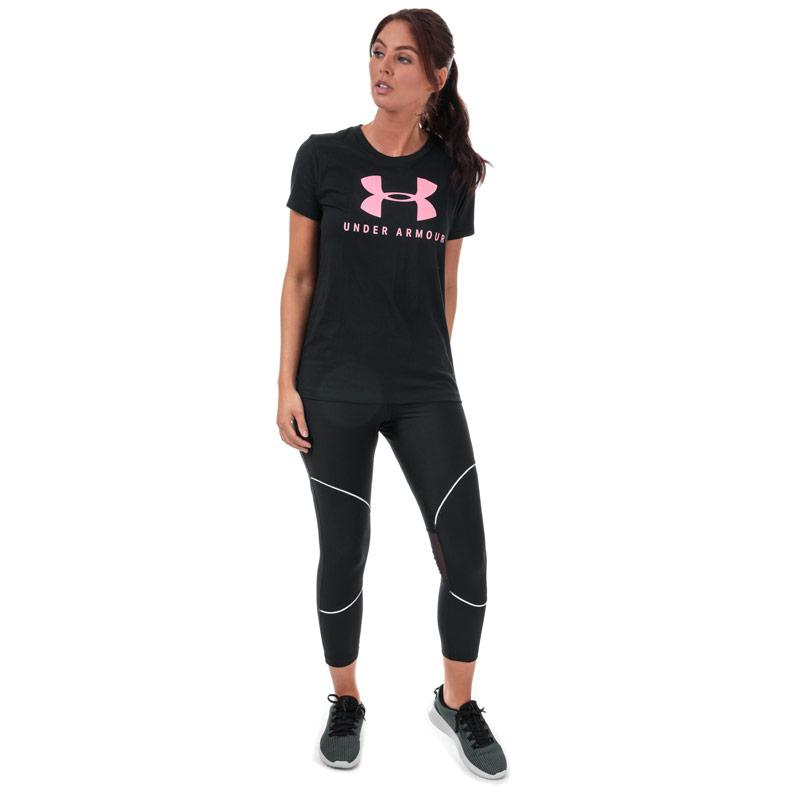 Under Armour Womens Graphic Sportstyle Classic T-Shirt Black