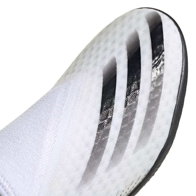 Adidas X Ghosted .3 Laceless Astro Turf Trainers White/MetSilver