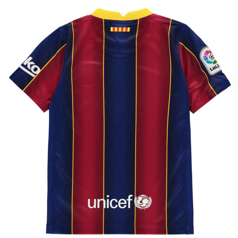 Nike Barcelona Home Shirt 2020 2021 Junior DEEP ROYAL BLUE/VARSITY MAIZE