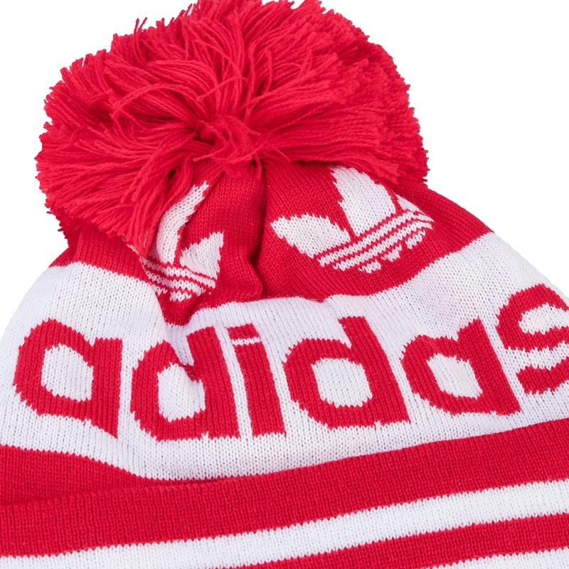 Adidas Originals Adicolor Pompom Beanie Red