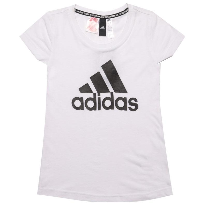 Adidas Junior Girls Must Haves Badge Of Sport T-Shirt White Black