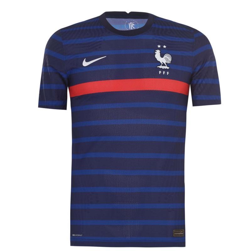 Nike France Home Vapor Shirt 2020 BLACKENED BLUE/WHITE