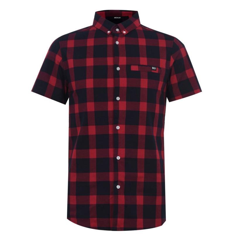 Crosshatch Black Shirt Senior Red