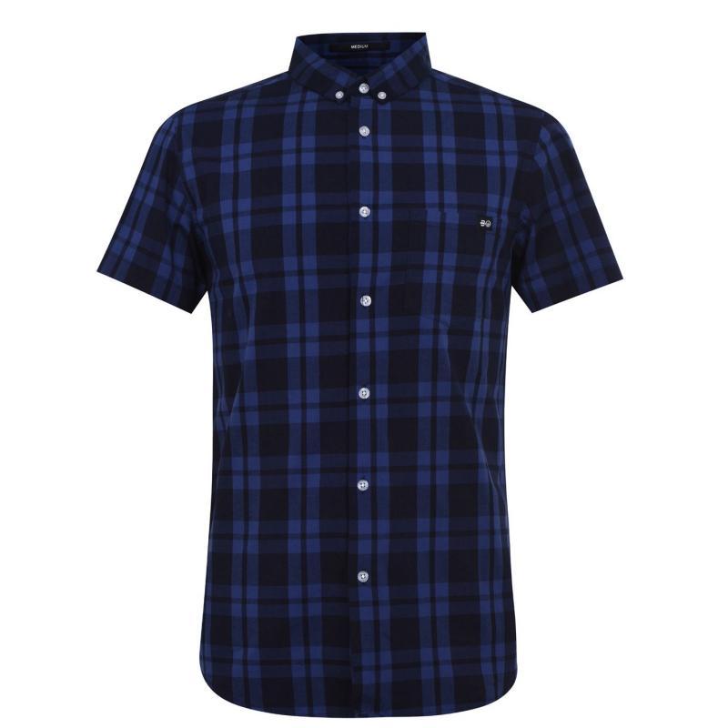 Crosshatch Check Shirt Senior Navy/Blue