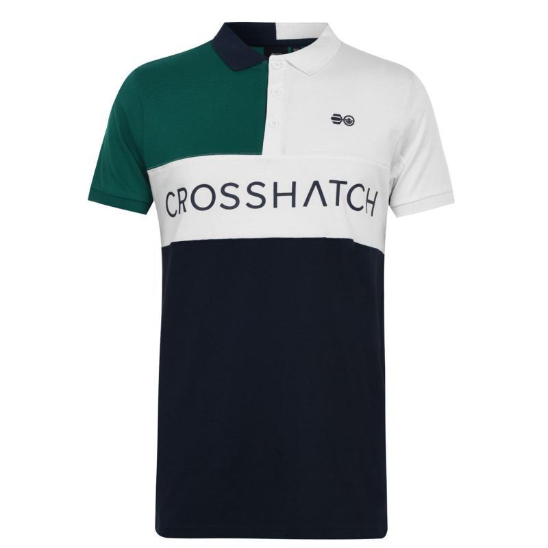 Crosshatch Polo Senior White Mix