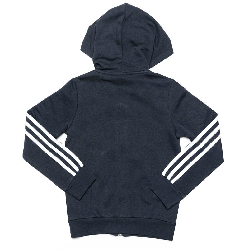 Adidas Infant Girls Essentials 3-Stripes Zip Hoody Navy