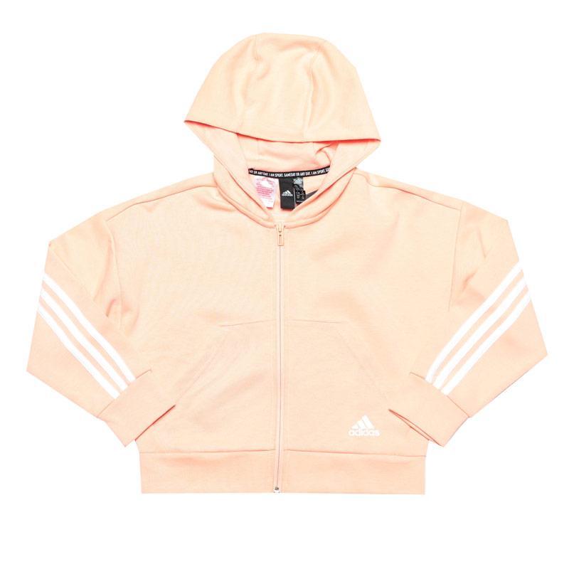 Adidas Infant Girls Must Haves 3-Stripes Zip Hoody Pink