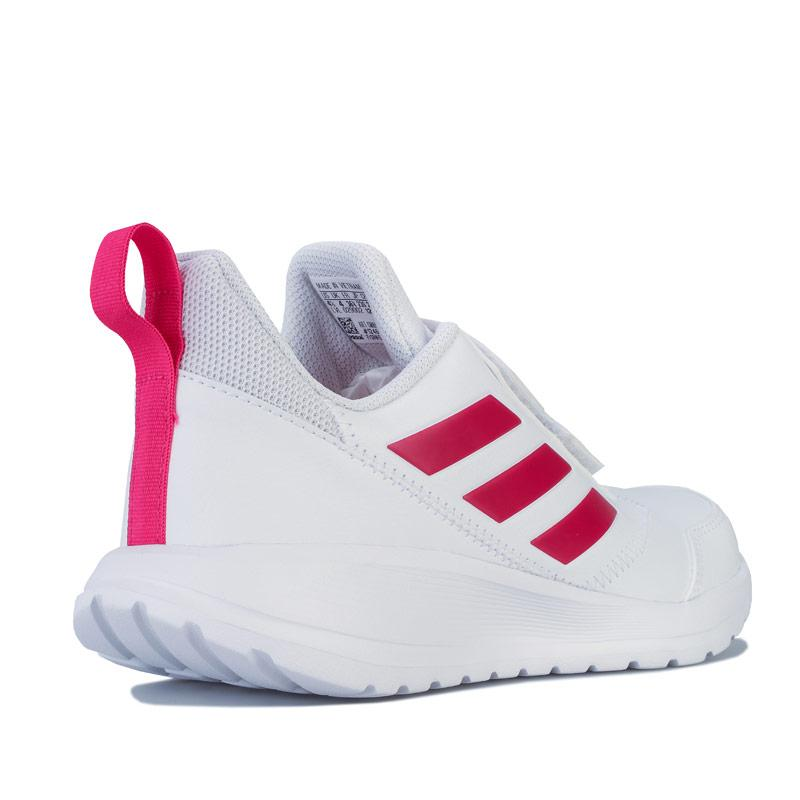 Adidas Junior Girls AltaRun Trainers White pink