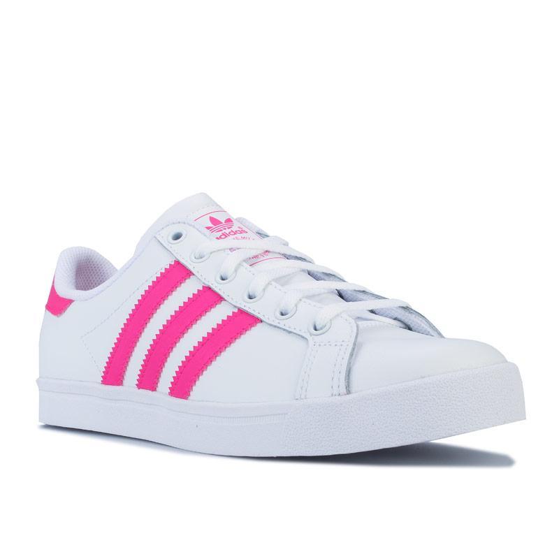 Adidas Originals Junior Girls Coast Star Trainers White pink