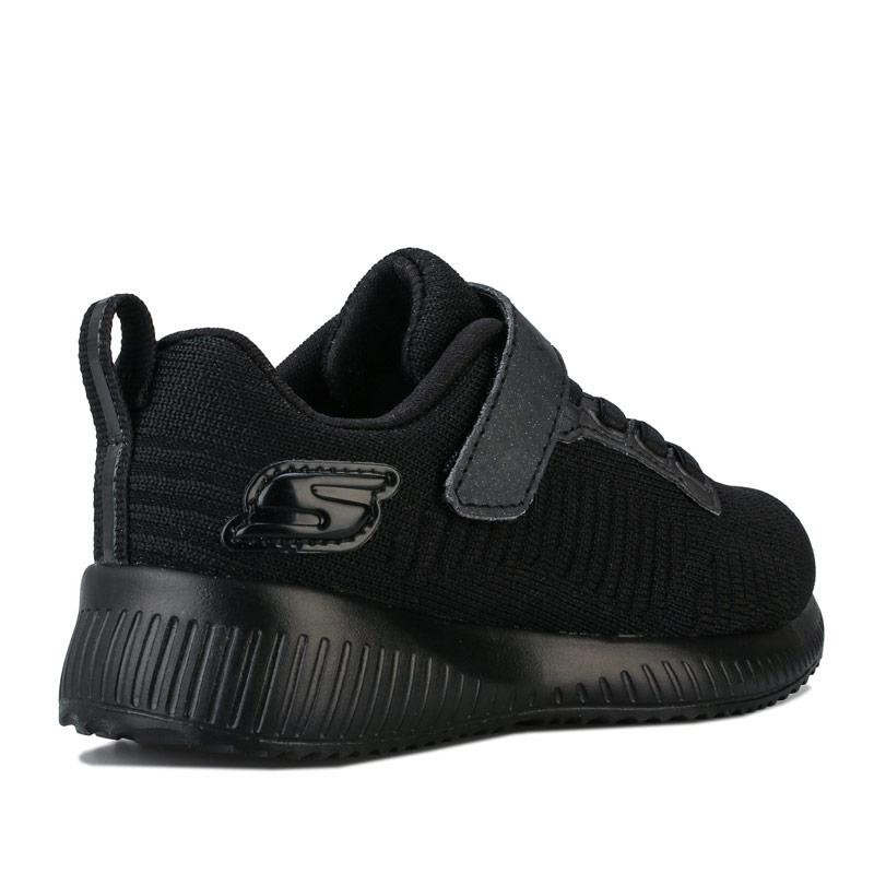 Skechers Junior Girls Squad Charm League Trainers Black