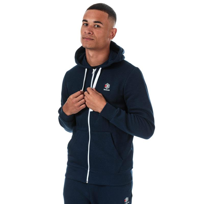 Mikina Reebok Classics Mens Classics Fleece Full Zip Hoody Navy