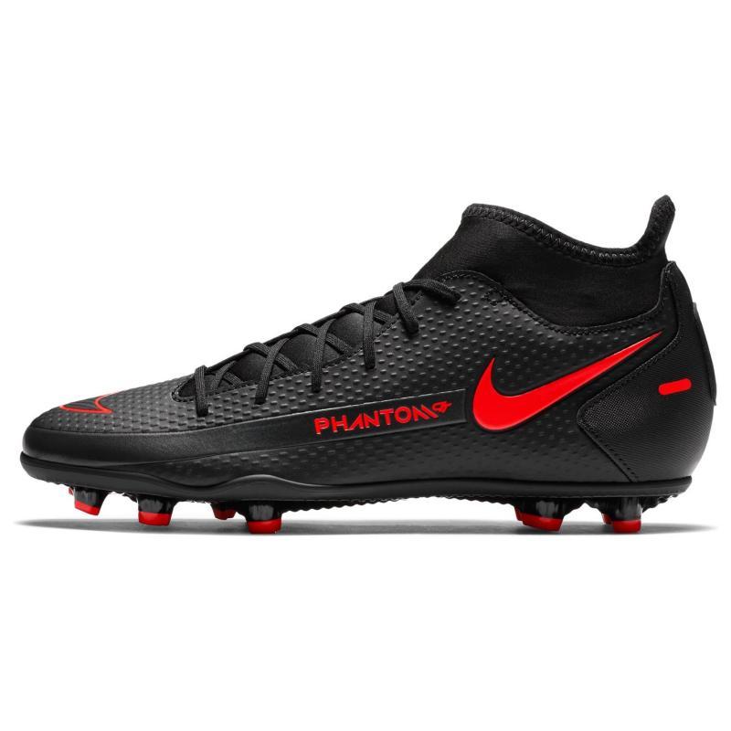 Nike Phantom GT Club DF FG Football Boots BLACK/CHILE RED-DK SMOKE GREY