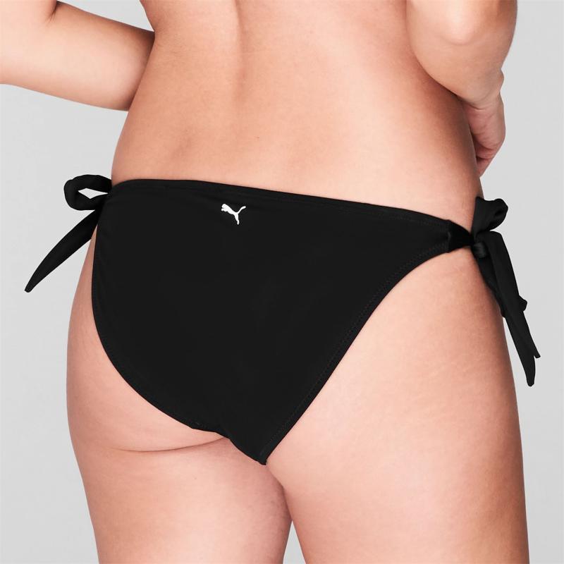 Plavky Puma Tie Bikini Bottoms Black