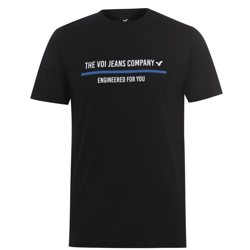 Tričko VOI Avezano T Shirt Mens Black