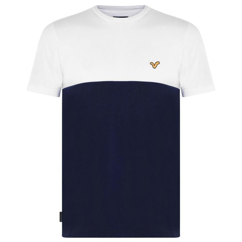 Tričko VOI Bergamo T Shirt Mens White/Navy
