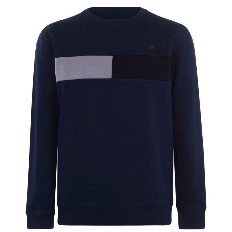 Mikina VOI Matera Crew Sweatshirt Mens Navy/Black/Grey