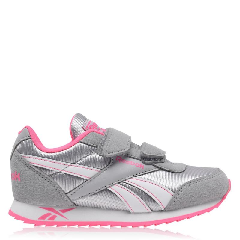 Reebok Jogger RS Child Girls Trainers Silver/Pink