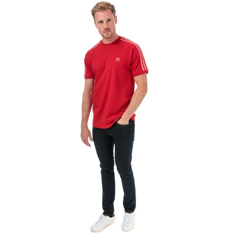 Tričko Adidas Originals Mens 3-Stripes T-Shirt Red
