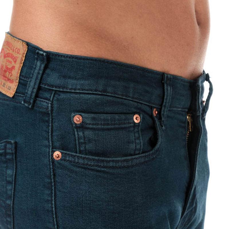 Levis Mens 512 Slim Taper Cedar Flat Jeans Denim