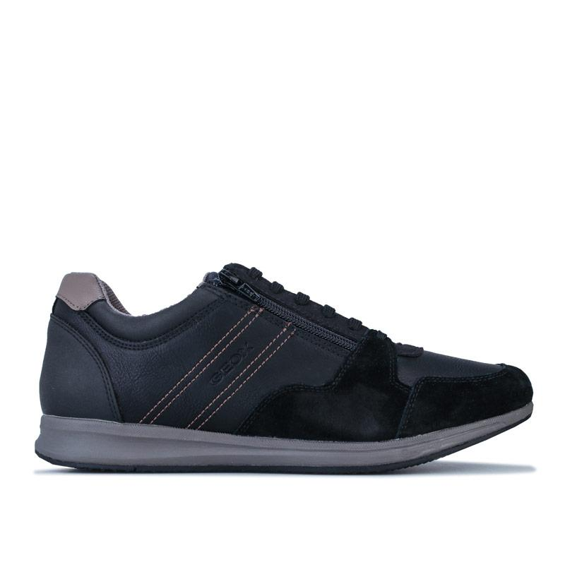 Geox Mens Avery Trainers Black