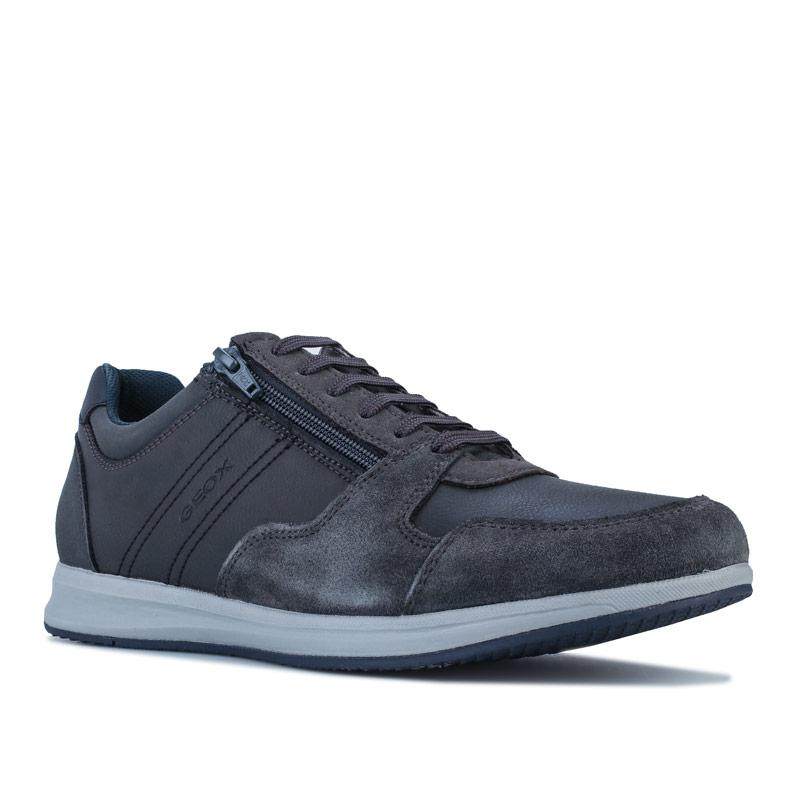 Geox Mens Avery Trainers Grey