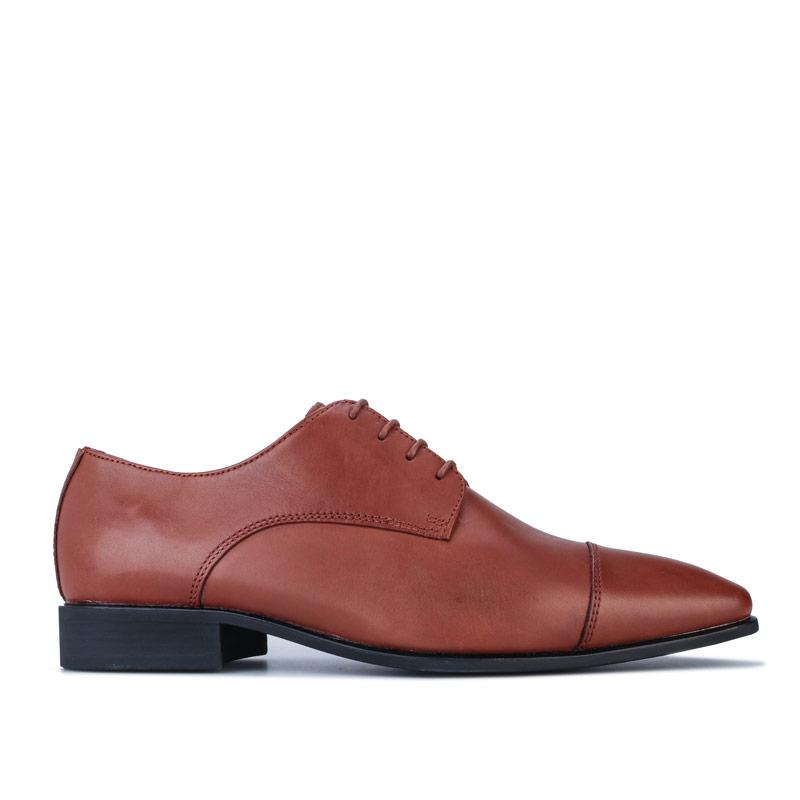Boty Geox Mens High Life Lace Up Shoes Cognac