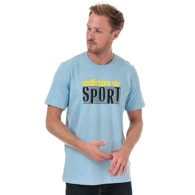 Tričko Adidas Originals Mens Linear Logo T-Shirt Blue
