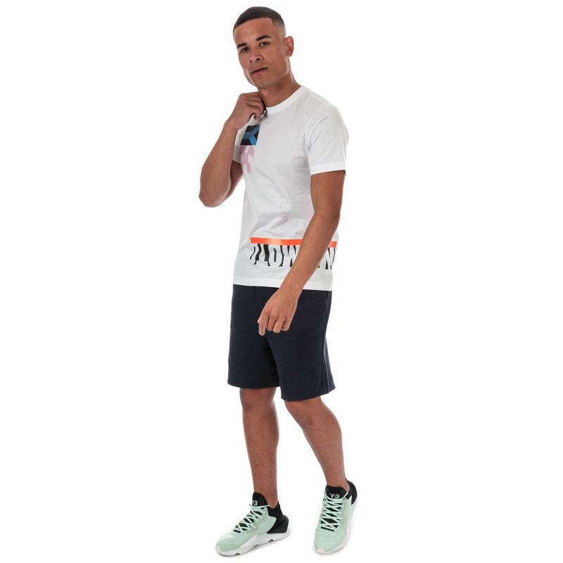 Tričko Y-3 Mens Multi Block Grapic T-Shirt White